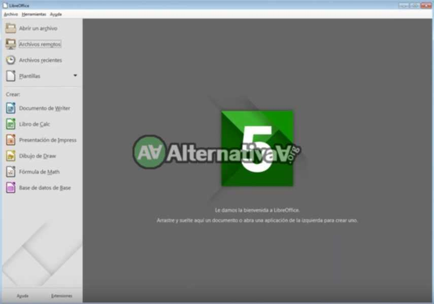 Alternativa a Microsoft Office -> LibreOffice