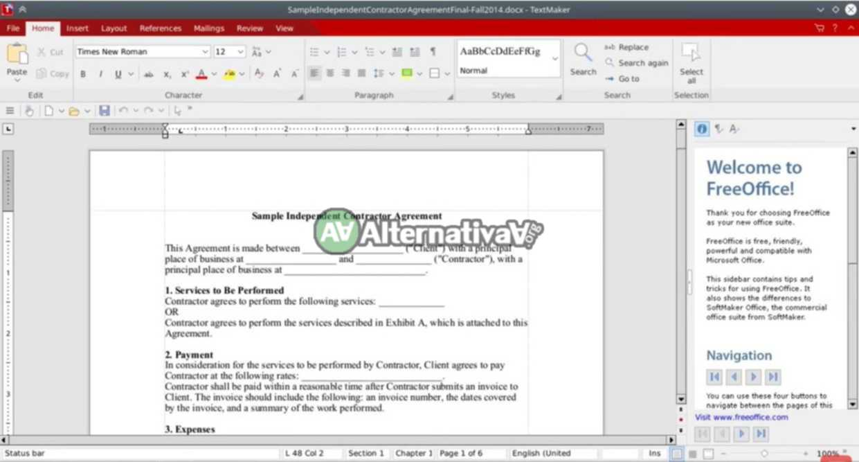 Alternativa a Microsoft Office -> SoftMaker FreeOffice