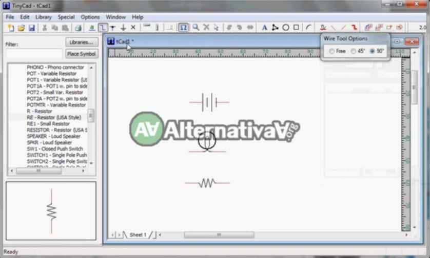Alternativa a AutoCAD Electrical -> TinyCAD